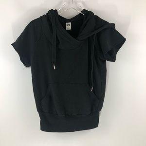 NSF Short Sleeve Black Hoodie